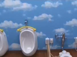 青空をイメージした壁